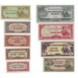 Набор банкнот оккупационной Бирмы (9 шт.), Бирма, Японская оккупация.