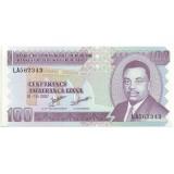 Банкнота 100 франков. 2007 год, Бурунди.