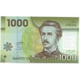Банкнота 1000 песо. 2010 год, Чили.