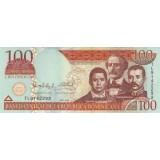 Банкнота 100 песо. 2009 год, Доминиканская Республика.