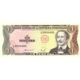 Банкнота 1 песо. 1988 год, Доминиканская Республика.
