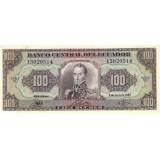 Банкнота 100 сукре. 1988 год, Эквадор.