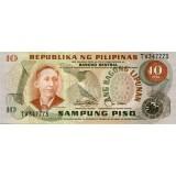 Банкнота 10 песо. Филиппины (вариант 2).