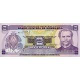 Банкнота 2 лемпиры. 2010 год, Гондурас.