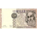Марко Поло. Банкнота 1000 лир. 1982 год, Италия.