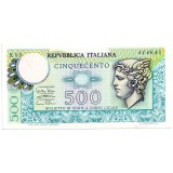 Банкнота 500 лир. 1974 год, Италия.