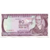 Банкнота 50 песо. 1986 год, Колумбия.