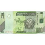 Банкнота 1000 франков. 2013 год, Конго.