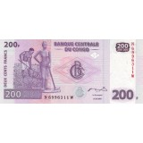 Банкнота 200 франков. 2007 год, Конго.
