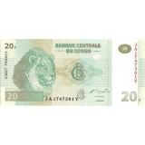Банкнота 20 франков. 2003 год, Конго.