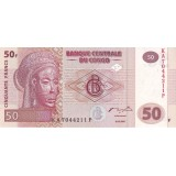 Банкнота 50 франков. 2007 год, Конго.