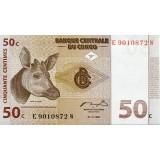 Банкнота 50 сантимов. 1997 год, Конго.