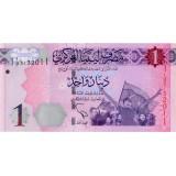 Банкнота 1 динар. 2013 год, Ливия.