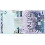 Банкнота 1 ринггит. Малайзия.