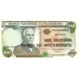 Банкнота 1000 эскудо. 1972(1976)  год, Мозамбик.