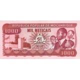 Банкнота 1000 метикалов. 1989 год, Мозамбик.