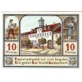 Нотгельд Плауэ. 10 пфеннигов. 1921 год, Веймарская республика (Германия).