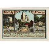 Нотгельд Плауэ. 50 пфеннигов. 1921 год, Веймарская республика (Германия).