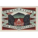 Нотгельд Зальцбрунна. 50 пфеннигов. 1921 год, Веймарская республика (Германия).