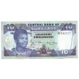 Банкнота 10 эмалангени. 2006 год, Свазиленд.