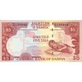 Банкнота 5 тала, Самоа.