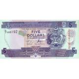 Банкнота 5 долларов. 2008 год, Соломоновы острова.