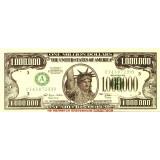 Сувенирная банкнота 1,000,000 долларов США.