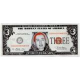 Хиллари Клинтон. Сувенирная банкнота 3 доллара. США. (Вар. II)