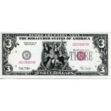 Вечеринка Клинтона. Сувенирная банкнота 3 доллара. США.