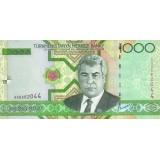 Банкнота 1000 манат. 2005 год, Туркменистан.