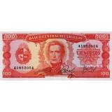 Банкнота 100 песо. 1967 год, Уругвай.