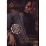 500 лет со дня рождения итальянского живописца, архитектора и писателя Джорджо Вазари. Монета 2 евро в буклете, 2011 год, Сан-Марино.