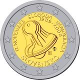 20 лет с начала Бархатной Революции. Монета 2 евро, 2009 год, Словакия
