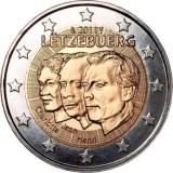 """50 лет назначения наследного Великого герцога Люксембурга Жана """"лейтенантом-представителем"""" Великой герцогини Шарлотты. 2 евро, 2011 год, Люксембург."""