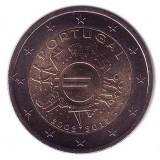 10 лет введения наличных евро. Монета 2 евро, 2012 год, Португалия.