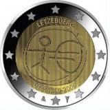 10 лет Экономическому и валютному союзу. Монета 2 евро, 2009 год, Люксембург