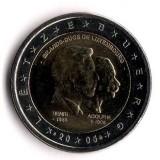 Три годовщины. Монета 2 евро, 2005 год, Люксембург.