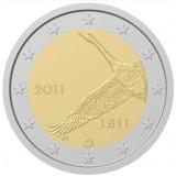 200 лет Банку Финляндии. Монета 2 евро, 2011 год, Финляндия.