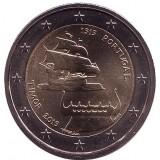 500-летие открытия Португальского Тимора. Монета 2 евро. 2015 год, Португалия.