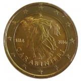 200 лет итальянским карабинерам. Монета 2 евро, 2014 год, Италия.