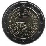 25-летие объединения Германии (падение Берлинской стены). Монета 2 евро, 2015 год, Германия.