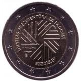 Председательство Латвии в Совете ЕС. Монета 2 евро, 2015 год, Латвия.