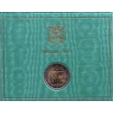 XXVIII Всемирный день молодёжи в Рио-де-Жанейро. Памятная монета 2 евро. 2013 год, Ватикан. (в буклете!)