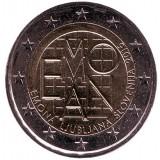 2000 лет римскому поселению Эмона. Монета 2 евро. 2015 год, Словения.