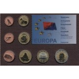 Набор пробных евро  Ланзарота 2008 года в блистере