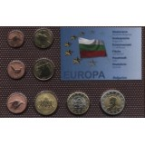 Набор пробных евро  Болгарии 2007 года в блистере