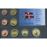 Набор пробных евро  Дании 2006 года в блистере