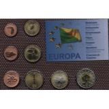 Набор пробных евро  Французская Гвиана 2007 года в блистере