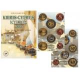 Набор пробных евро Кипра 2004 года в буклете