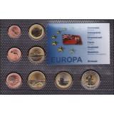 Набор пробных евро Бермуды 2012 года в блистере
